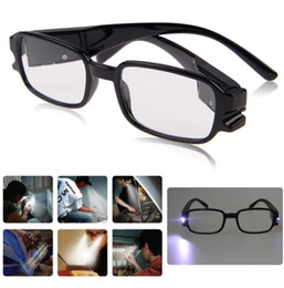 Gros-Hot Lunettes de lecture à double Led Lunettes Spectacle dioptrique Magnifier Lumière UP 1,0-4,0 multi Force Hommes Femmes Cadeau supplier double reading light à partir de à double lampe de lecture fournisseurs