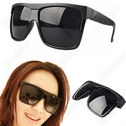 Wholesale-Women Men Unisex Vintage Inspired Large Frame Flat Top Square Sunglasses Black Leopard 01WK