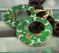 Wholesale Round Ethnic Earring Cheap High quality China Cloisonne Earrings Jewelry mix Free