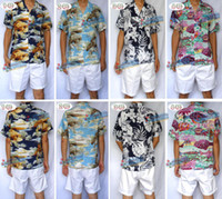 hawaiian shirts - Hawaiian shirt man leisure short sleeved shirt clothes cotton silk beach soft comfortable short sleeved shirt Hainan island