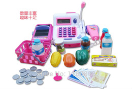 Wholesale Gift supermarket cash desk toy child cash register conveyor belt set