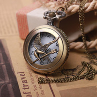 Cheap Wholesale-2015 Antique Punk Pocket Watch The Hunger Games Harry Potter Dive Watch Male Clock Lord Of The Rings Pocket Watch w07