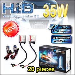 NEW 20PCS USA UK !!! 35W SINGLE BEAM H1 H7 HID CONVERSION XENON KITS NORMAL BALLASTS FLOURISH BRAND