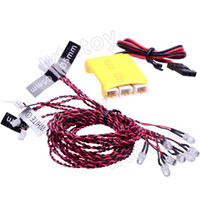 Cheap Wholesale-8 LED Flashing Light System For RC Helicopter Plane Glider MK KK Multicopter Hot 19080