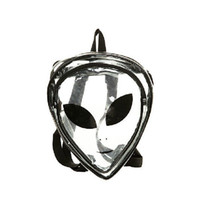 avatar backpack - Exclusive Harajuku Personality Making Crystal Clear as the influx of Alien Avatar Smiley Triangular Shaped Transparent Backpack