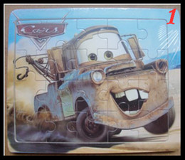 Wholesale-20 wooden puzzle baby puzzle cartoon 1-2- 3 - 4age puzzle free shipping