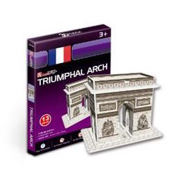 Wholesale-Freeshipping! MINI CubicFun 3D Jigsaw Puzzle TRIUMPHAL ARCH 3D paper model,DIY puzzle,Best Educational toys S3014