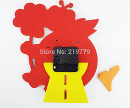 Wholesale Funny handmade DIY D Cartoon Animal learning Clock Puzzle Kids Arts amp Crafts Kits Kids Birthday Educational Gift Toys