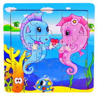 baby development twins - FD418 Intellectual development Baby Kids Educational Training Toy Wooden Puzzle Hippocampal Twins