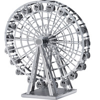 al wheels - High Quality Eiffel Tower WINDMLL Ferris Wheel Burj Al Arab Hotel Metal Model DIY Jigsaw D Puzzles