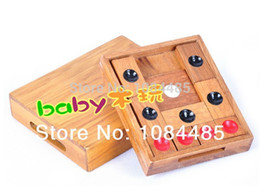 Wholesale-Classic Chinese IQ Wooden Traditional Game Huarong Dao Klotski Sliding Puzzle for Kids and Adults