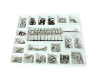 animal testing free - IQ Test Brain Teaser Nine chain Metal Wire Puzzles Reliever Stress Toy