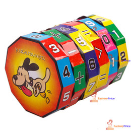 Wholesale-[FactoryPrice] New Children Kids Mathematics Numbers Magic Cube Toy Puzzle Game Gift High Quality