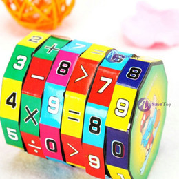 Wholesale-full new [SaveTop] New Children Kids Mathematics Numbers Magic Cube Toy Puzzle Game Gift Latest Style