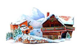 Wholesale-games for kids Educational toy Paper Models Children 3D puzzle-Ski resort