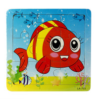 baby rd - New Wooden RD Fish Puzzle Educational Developmental Baby Kids Training Toy Jecksion