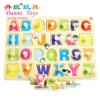 abc letter recognition - Candice guo hot sale Danni toys ABC puzzle board educational wooden toy letters recognition English learning pc