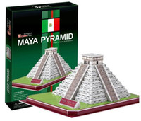 architecture maya - Supernova Sales Birthday gifts educational puzzle toys D paper model World Architecture series Paper craft Maya Pyramid