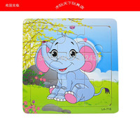 Wholesale pieces of wooden jigsaw puzzle cartoon animals TongYi intelligence year old wooden toys Good intelligence