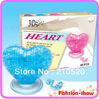 Wholesale U95 quot Love Heart IQ Toy Educational Toys D Crystal Puzzle Jigsaw Model DIY Furnish Gift Souptoy Gadget