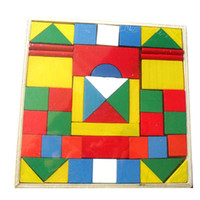 Cheap Wholesale-Exempt postage, 48 building blocks, wooden educational toys, wooden toys, geometric building blocks