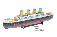 Wholesale Titanic d puzzle DIY for children toy more design for choosing
