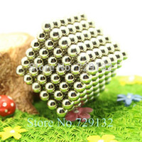 Wholesale mm Buckyballs Magnetic balls Neocube Magic cube Magnet Puzzle Nickel color Round tin box