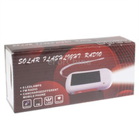 Wholesale Brand new Mini Solar Flashlight Radio with Charging Function