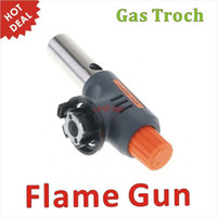 bbq fire starters - Gas Torch Hiking Camp Fire Starter Maker Flame Gun Auto Ignition Weld for BBQ Outdoor Picnic