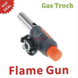 Wholesale Gas Torch Hiking Camp Fire Starter Maker Flame Gun Auto Ignition Weld for BBQ Outdoor Picnic