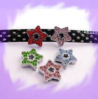 Wholesale 50pcs mm Star Slide Charms Fit Pet Collar Necklace Bracelet Cell Phone Charms