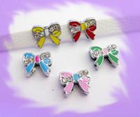 Wholesale 50pcs mm Bow Tie Slide Charms Fit Pet Collar Necklace Bracelet Cell Phone Charms