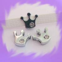 Wholesale 50pcs mm Crown Slide Charms DIY accessory Fit Pet Collar amp Necklace amp Bracelet