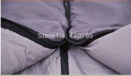 Wholesale-NEW Lengthen Outdoor Winter Envelope Lovers Sleeping Bag Patchwork Double Layer Sleeping Bag #6060