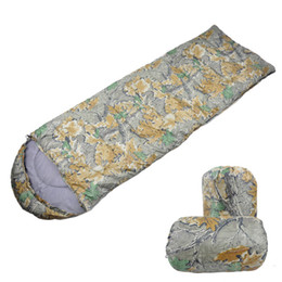 Wholesale-Outdoor camping spring and autumn cotton sleeping bag lovers envelope sleeping bag adult travel necessity