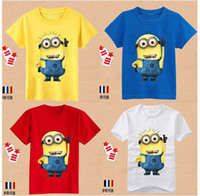 Wholesale Promotion cartoon children t shirts despicable me minions clothes girl boys shirts children s clothing t shirts baby amp