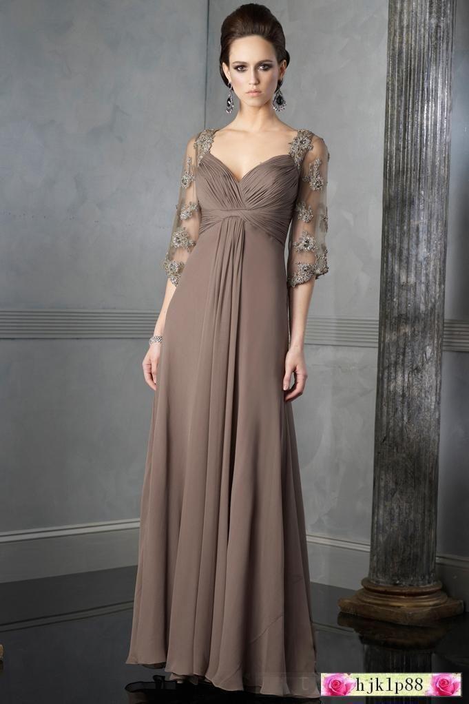 Long evening dresses for a wedding