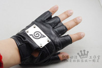 Wholesale new design naruto gloves kakashi Leather gloves cosplay pair