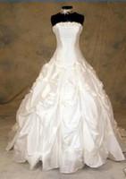 Wholesale Custom New Satin Back Lace Up wedding dress