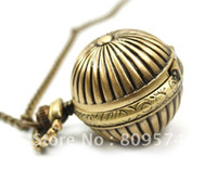 coupons - Coupon for price good quality girl woman lady fashion retro bronze brass color pumpkin ball pocket watch necklace