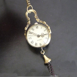 Wholesale Crystal Ball Pocket Watch Rome Number Quartz Watch Necklace Pendant Women Dress Watch Clock Steampunk Bronze Watch