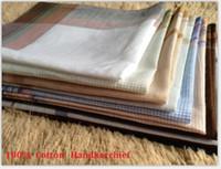 ladies handkerchiefs - cm Classic Men Pocket Square Cotton plaid Handkerchiefs Ladies Hankerchiefs Vintage Hankies