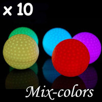Wholesale 10 High Quality Cute Flashing Golf Ball LED Golf Balls For Playing Colors change