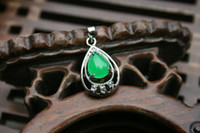 Wholesale Malay natural green jade pendant