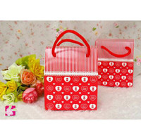 Wholesale Teddy Pattern Wedding Favor Boxes Gift Candy Box FFF