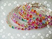 Wholesale 50pcs Rhinestone Crystal Stretch tennis Bracelets
