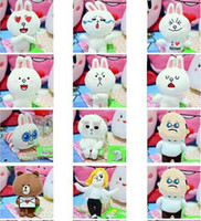 baby toy town - Line IN town toys Brown Bear Cony Rabbit Animal Stuffed Plush Fashion Stuffed Doll baby toy