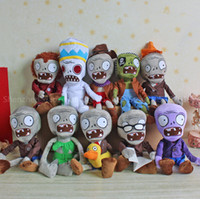 al por mayor plantas contra zombis felpa suave-Al por mayor-10pcs / lot de la planta vs Zombies 2 Juguetes Planta Alta Calidad Vs Zombies Set 30CM juguete relleno felpa Animales Muñeca Soft Toys For Kids Regalo