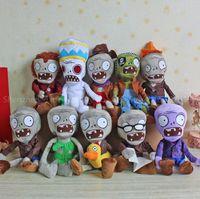achat en gros de zombies poupée-Gros-10pcs / lot plantes vs Zombies 2 jouets de haute qualité Vs Zombies usine Set 30CM Peluche Peluches poupée jouets souples pour enfants cadeau