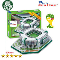 antarctica animals - World Cup d puzzle toys for children Brazil Parque Antarctica stadium d paper puzzles model for learning amp education